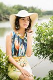 Lady in hat Royalty Free Stock Images