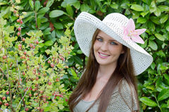 A lady with a hat Royalty Free Stock Photo