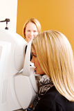 Lady having eye examination Royalty Free Stock Image