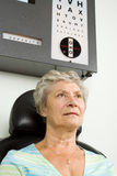 Lady having eye test examination Royalty Free Stock Photo