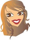 Lady head clip art Royalty Free Stock Photos