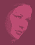 Lady head clip art Stock Image
