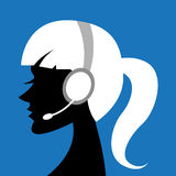 Lady with headphone Royalty Free Stock Image