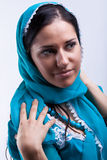Lady in headscarf Stock Image