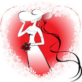 Lady in the heart Stock Image