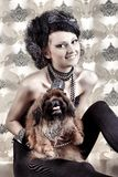 Lady with her dog Royalty Free Stock Photography