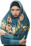 Lady in Hijab Looking Angry Royalty Free Stock Photo