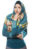 Lady in Hijab Looking Confident Royalty Free Stock Image