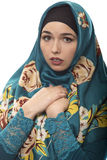 Lady in Hijab Looking Scared Stock Photography
