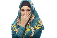 Lady in Hijab Looking Shy Royalty Free Stock Photos