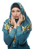 Lady in Hijab Looking Shy Stock Photo