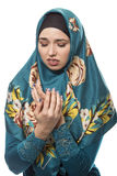 Lady in Hijab is Repulsed or Disgusted by Something Royalty Free Stock Image