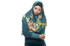 Lady in Hijab Sad of Failure Stock Photography