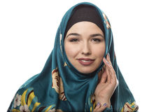 Lady in Hijab Smiling and Happy Royalty Free Stock Image