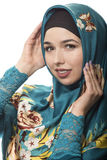 Lady in Hijab Smiling and Happy Royalty Free Stock Images