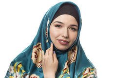 Lady in Hijab Smiling and Happy Stock Photography