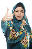 Lady in Hijab Thumbs Up Stock Photo