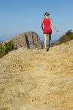 Lady hiking Stock Photography