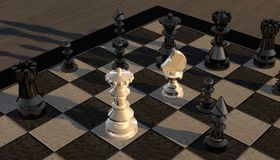 Lady, Horse, Tower, Bauer, Chess Stock Photos