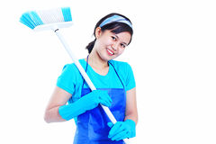 Lady Housekeeper Royalty Free Stock Photos