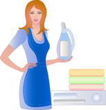 Lady housewife Stock Images