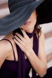 Lady i en hatt Royaltyfria Foton