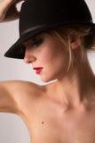 Lady i hatt Royaltyfria Foton