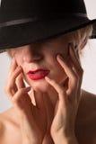 Lady i hatt Royaltyfri Fotografi