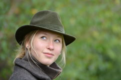 Lady i hatt Arkivbild