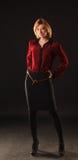 Lady i Red Arkivfoton