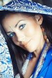 Lady i sari arkivfoto