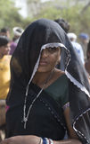 Lady i svart Royaltyfri Bild