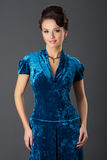Lady In Blue Stock Photos
