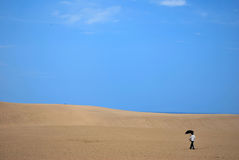 Free Lady In Desert Stock Photography - 7972052