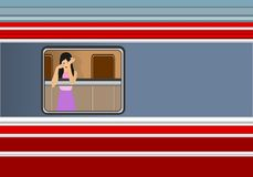 Lady In Train, Cdr Vector Stock Images