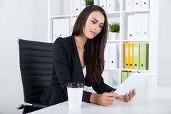 Lady journalist Royalty Free Stock Photography
