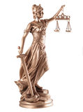 Lady of Justice. On white background Stock Image