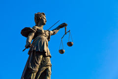 Lady Justice. Statue of Lady Justice in Frankfurt royalty free stock photography