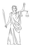 Lady Justice. Vector illustration of Lady Justice Stock Photos