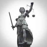 Lady Justice. Statue of Lady Justice in Frankfurt, Germany with retro effect Stock Photography