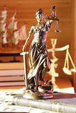 Lady of Justice. Bronze figurine lady of Justice - a symbol of justice Royalty Free Stock Photos