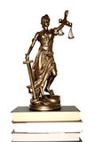 Lady of Justice. On white background Royalty Free Stock Photos