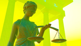 Lady Justice in court Stock Image
