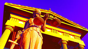 Lady Justice in court Stock Photography