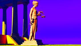 Lady Justice in court Stock Photos