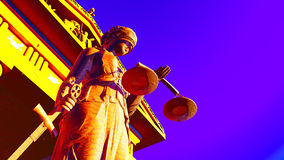 Lady Justice in court Stock Photo