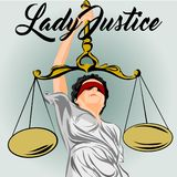 lady justice design art wallpaper  illustration Stock Photography