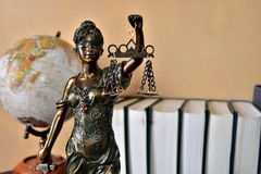 Lady justice. A famous symbol of justice Stock Photos