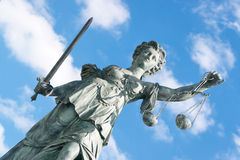 Lady Justice, Frankfurt stock photos