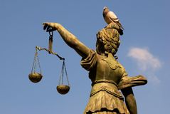 Lady Justice, Frankfurt Stock Photo